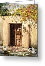 Hacienda Gate Greeting Card by Sam Sidders