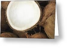 Half Coconut Greeting Card by Brandon Tabiolo - Printscapes