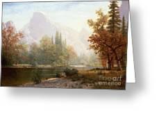Half Dome Yosemite Greeting Card by Albert Bierstadt