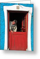 Half Door Greeting Card by Aidan Moran