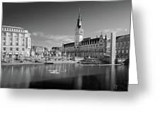 Hamburg - Binnenalster Greeting Card by Marc Huebner