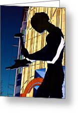Hammering Man Greeting Card by Tim Allen