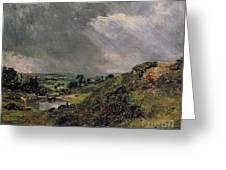 Hampstead Heath Greeting Card by John Constable