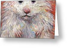 Hamster Painting  Greeting Card by Svetlana Novikova