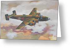 Handley Page Halifax Greeting Card by Murray McLeod