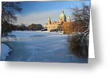 Hanover In Winter Greeting Card by Marc Huebner