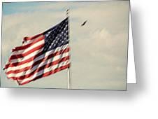 Happy Birthday America Greeting Card by Susanne Van Hulst