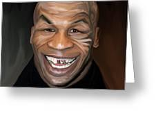 Happy Iron Mike Tyson Greeting Card by Brett Hardin