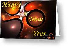 Happy New Year Greeting Card by Stefan Kuhn