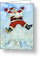 Happy Santa  Greeting Card by David Cooke