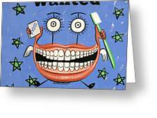 Happy Teeth Greeting Card by Anthony Falbo