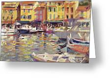 Harbor at Cassis Greeting Card by Peter Graham