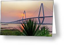 Harbor Sunset Greeting Card by Drew Castelhano