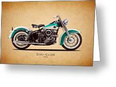 Harley-Davidson Duo-Glide 1958 Greeting Card by Mark Rogan