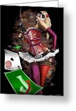 Harley Quinn Greeting Card by Brett Hardin