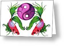 Harmony Together Greeting Card by Sheryl Unwin