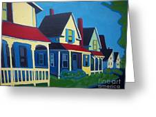 Harpswell Cottages Greeting Card by Debra Robinson