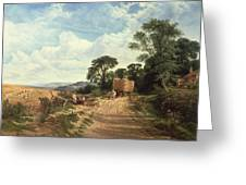Harvest Time Greeting Card by George Vicat Cole