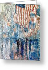 Hassam Avenue In The Rain Greeting Card by Granger