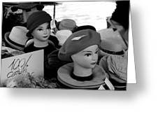 Hats And Heads Greeting Card by Tony Grider