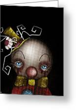 Hatter Clown Greeting Card by Abril Andrade Griffith