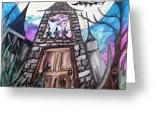 Haunted House Greeting Card by Jenni Walford