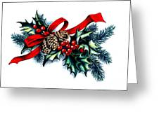Have A Holly Holly Christmas Greeting Card by Tobi Czumak