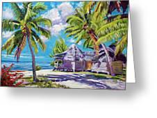 Hawaii Beach Shack Greeting Card by David Lloyd Glover