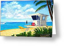 Hawaii North Shore Banzai Pipeline Greeting Card by Jerome Stumphauzer
