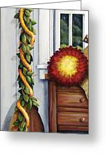 Hawaiian Still Life Panel Greeting Card by Sandra Blazel - Printscapes