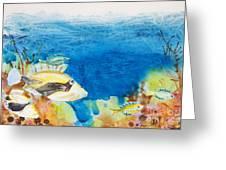 Hawaiian Triggerfish Greeting Card by Tanya L Haynes - Printscapes