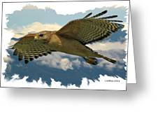 Hawk On The Wing Greeting Card by Larry Linton