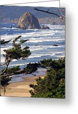 Haystak Rock Through The Trees Greeting Card by Marty Koch