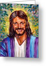He Smiles Greeting Card by John Lautermilch