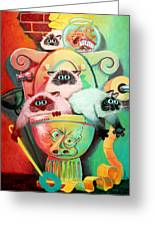 Head Cleaners Greeting Card by Baron Dixon