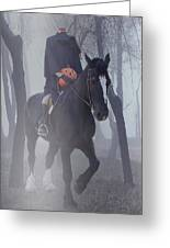 Headless Horseman Greeting Card by Christine Till