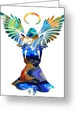Healing Angel - Spiritual Art Painting Greeting Card by Sharon Cummings