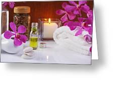 Health Spa Concepts  Greeting Card by Atiketta Sangasaeng
