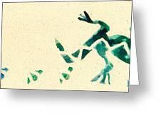Hear The Lizard Greeting Card by Annie Alexander