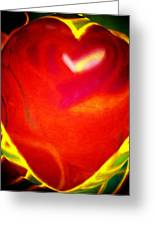 Heart Beating With Love Greeting Card by Brenda Adams