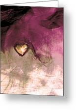 Heart Of Gold Greeting Card by Linda Sannuti