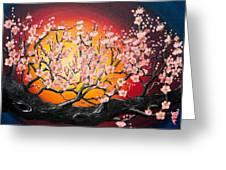 Heavenly Blossoms Greeting Card by Olga Yakimenko