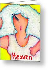 Heavenly Divine Greeting Card by Ricky Sencion