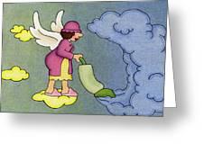 Heavenly Housekeeper Greeting Card by Sarah Batalka