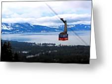 Heavenly Tram South Lake Tahoe Greeting Card by Brad Scott