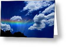 Heavens Rainbow Greeting Card by Linda Sannuti