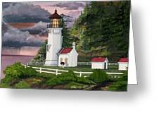 Heceta Head Lighthouse Greeting Card by James Lyman