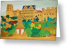 Heidelberg Castle And Minerva Greeting Card by Michaela Bautz
