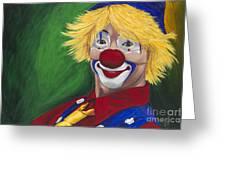 Hello Clown Greeting Card by Patty Vicknair