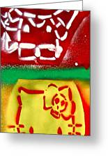 Hello Punk Kitty Greeting Card by Tony B Conscious
